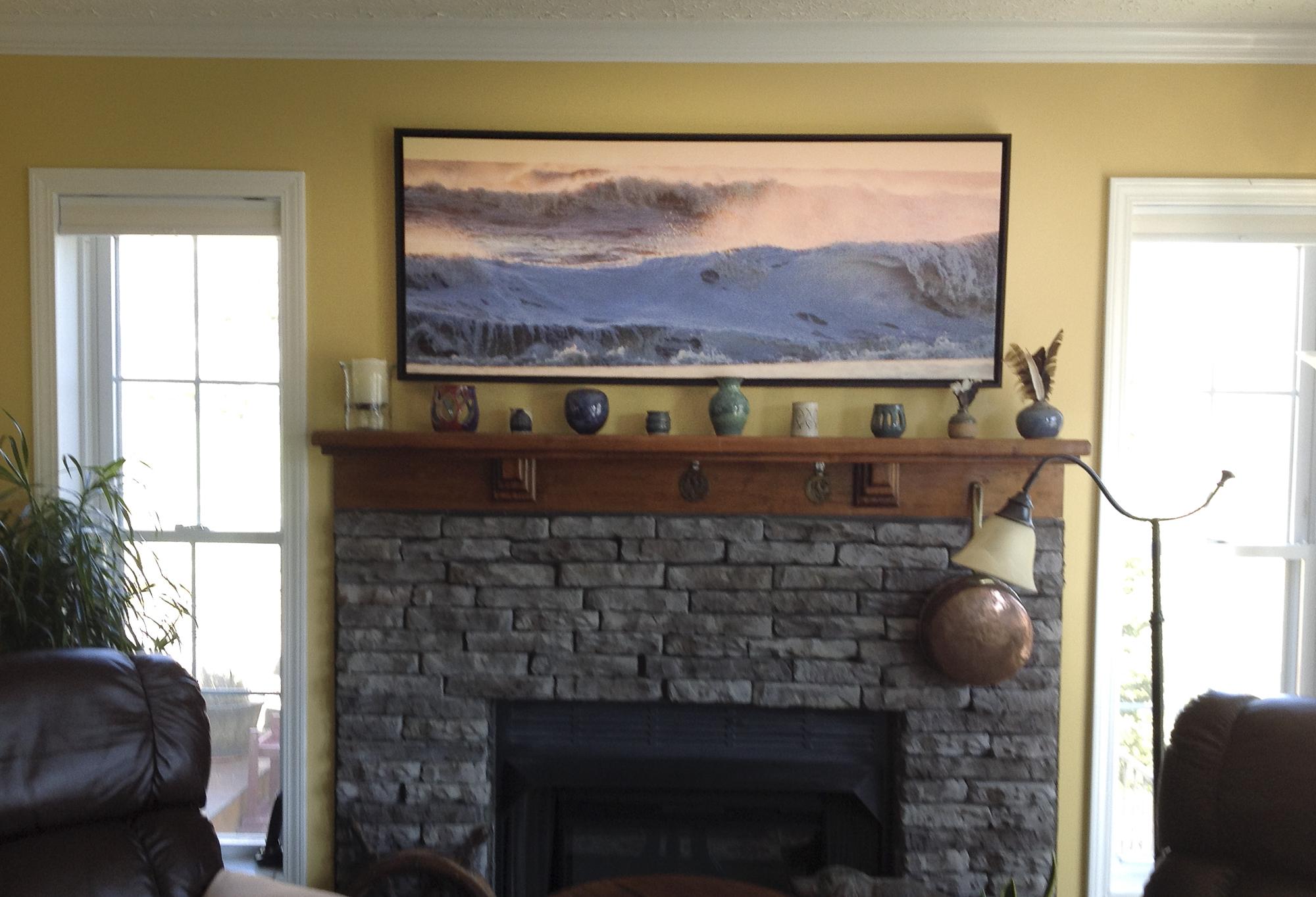 Ocean Lullaby Fireplace-