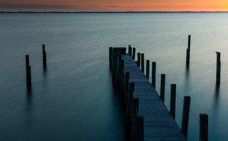 dock, obx, sunset, seascape, landscape photography